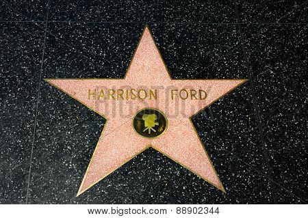 Harrison Ford Star On The Hollywood Walk Of Fame