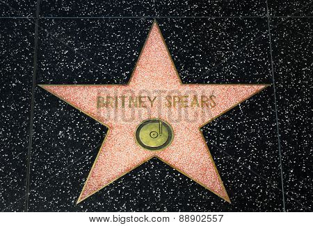 Britney Spears Star On The Hollywood Walk Of Fame