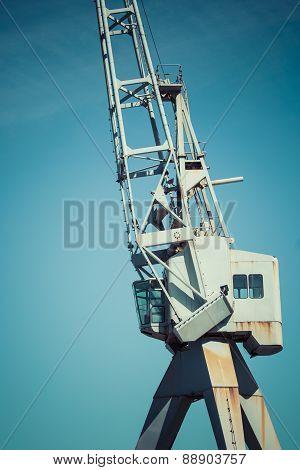 Dockside Crane,wellington Harbour New Zealand.