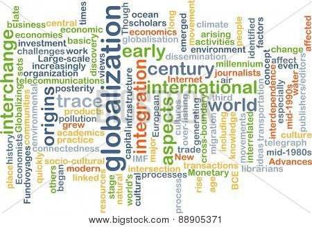 Background text pattern concept wordcloud illustration of globalization