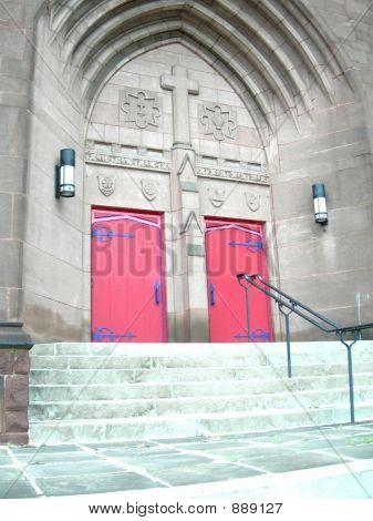 Red Church Doors 21