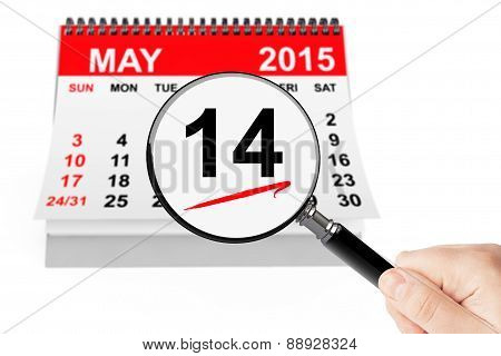 14 May 2015 Calendar With Magnifier