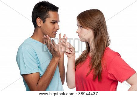 Girl Accusing Boy