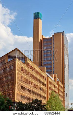 Modern building at Potsdamer Platz in Berlin.