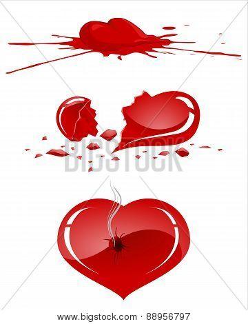 Damaged Human Heart