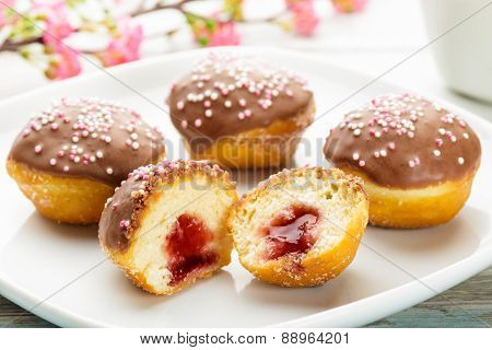 Petite Sufganiyah With Chocolate Topping