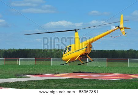 Small yellow helicopter