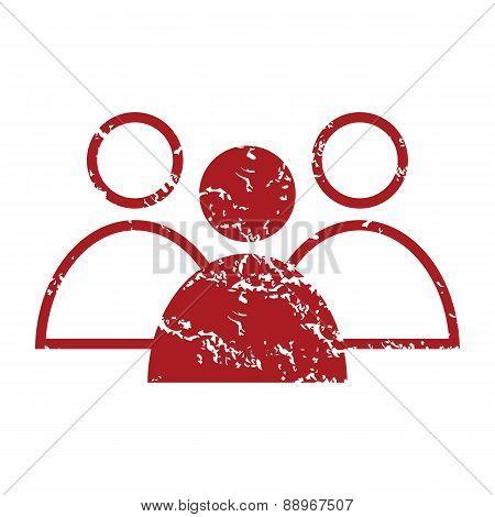 Red grunge leader logo