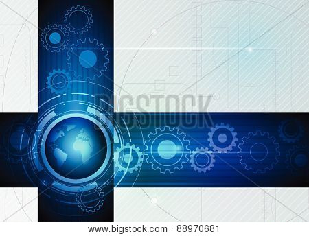 Abstract Future Digital Science Technology Concept