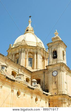 Catholic Church in Mgarr city. Gozo. Malta poster
