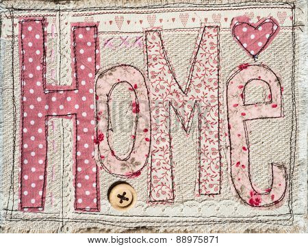 sewed shabby chic home text background decoration