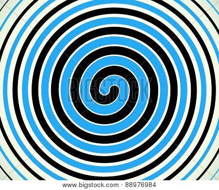 Black-blue Duotone Spiral  Element, Background. Editable Vector