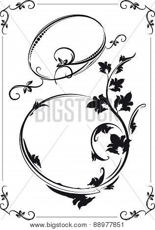 Beautiful collection of the frames. Vector illustration for your design.