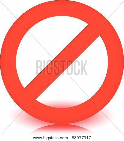 Red prohibition restriction - No entry sign. Vector Illustration poster