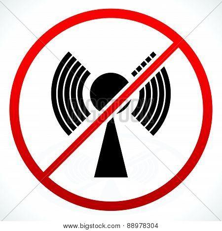 No Signal, Bad Antenna Concepts. Vector Icon