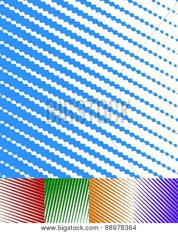 White Billowy Parallel Stripes, Lines Background Set