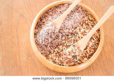 Organic multi whole grain of jasmine rice poster