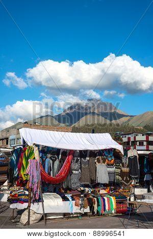 Indian Market In Otavalo, Ecuador