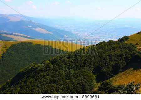 Apennines beauty taken in Italy on the Monte Cucco mountain poster