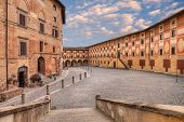 Old catholic theological seminary in San Miniato, a beautiful ancient town in the province of Pisa, Tuscany, Italy. poster