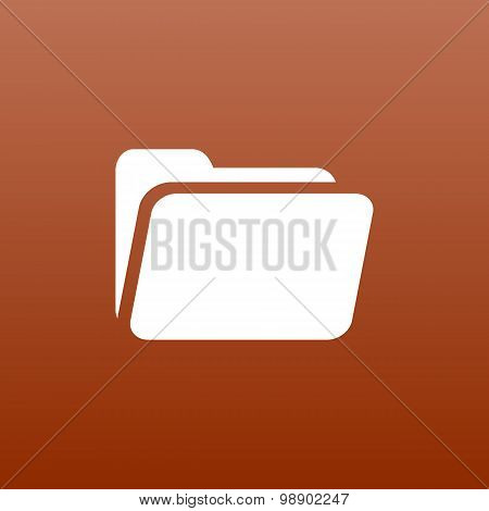 circle icon vector folder binder isolated file document directory poster