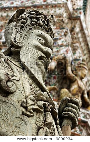 Chinese style sculpture in Thai temple #2