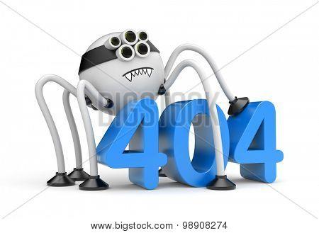 Robot spider and 404 error