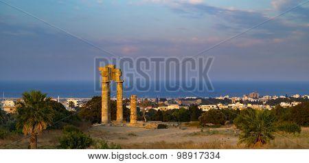 Acropolis Of Rhodes At Monte Smith On Rhodes, Greece