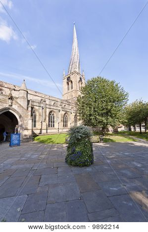 Chesterfield Church With Its Twisted Spire