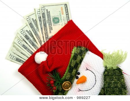 Snowman Money Bag