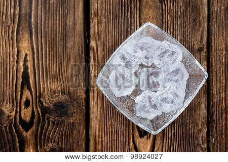 Bowl With Ice Cubes