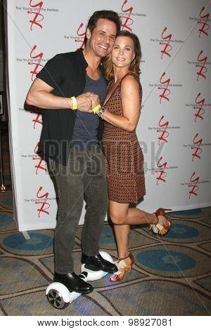 LOS ANGELES - AUG 15:  Christian LeBlanc, Gina Tognoni at the