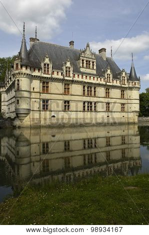 France, The Renaissance Castle Of Azay Le Rideau In Touraine