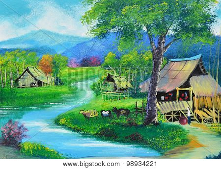 Thailand upcountry view
