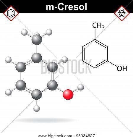 Cresol Molecule, Meta-cresol Isomer