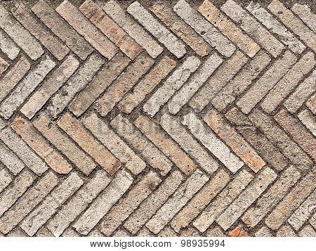 pavement of stone pavers as a background poster