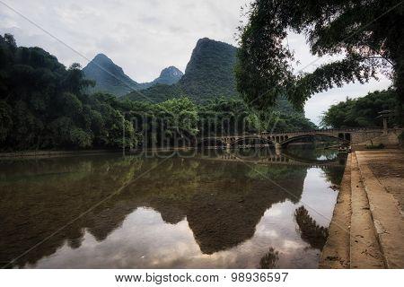 The Bridge In Xingping