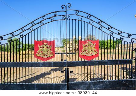 Ion Gate And Coat Of Arms Of a Palace Of Jaisalmer,