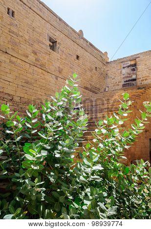 Dilapidated and broken house inside Golden Fort of Jaisalmer Rajasthan India