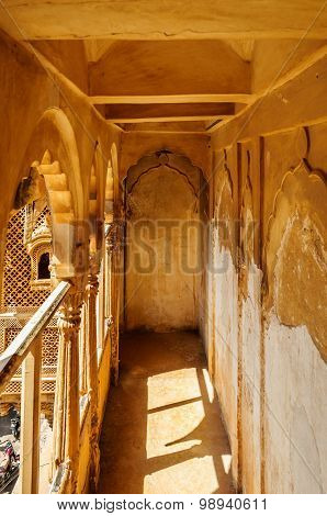 Corridor Inside Museum Of Golden Fort Of Jaisalmer, Rajasthan In