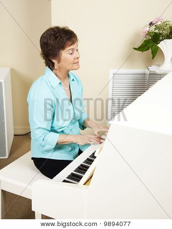 Pianist Playing Church Hymns