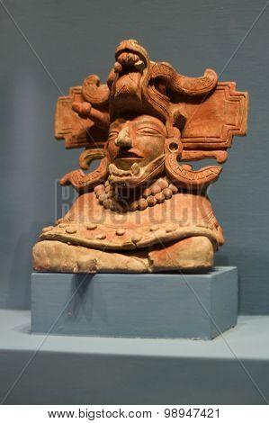 Zapotec Deity Monte-alban Oaxaca Mexico