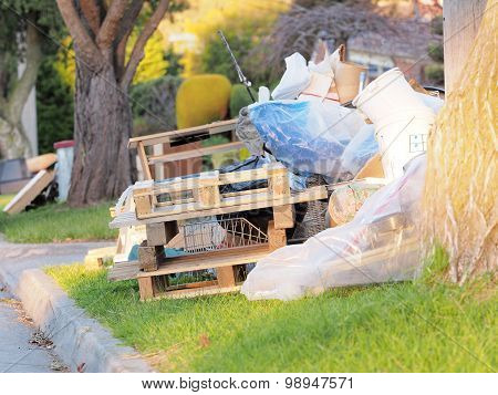 Timber pallets and other items for the annual hard rubbish collection