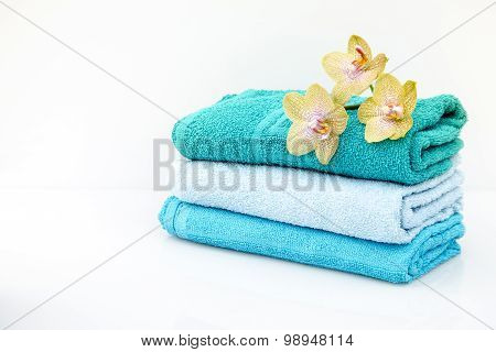Spa Towels In A Set With Accessories For The Bath