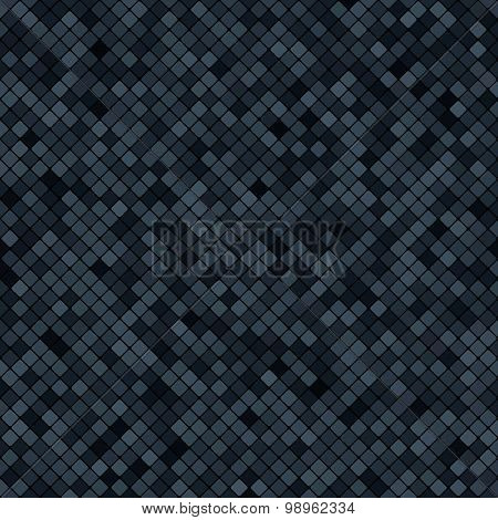 Background Abstract Mosaic Of The Grid Pixel Pattern And Squares Dark Gray Color