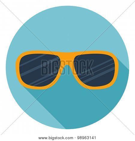 Sunglasses. Single flat color icon. Vector illustration.