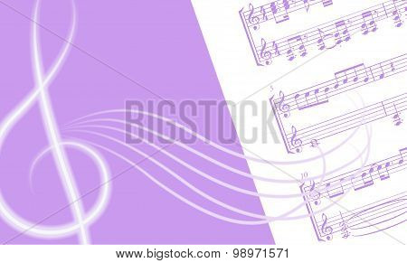 Illustration with treble clef.