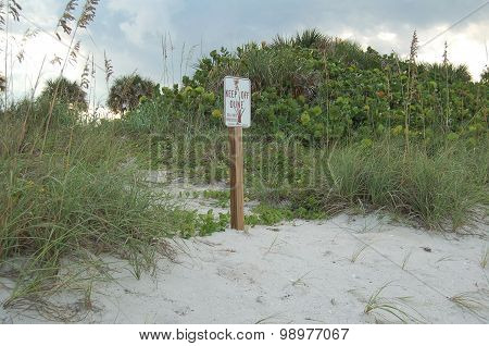 Keep off Dune Sign