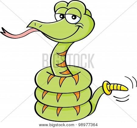 Cartoon rattlesnake.