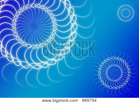 Blue Background With Ornaments